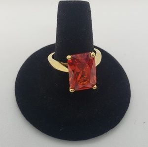 Jewelry - Amber Gemstone Cocktail Ring